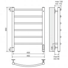 Elektrinis rankšluosčių džiovintuvas-kopėtėlės TERMINUS Classic (482 x 650 mm)