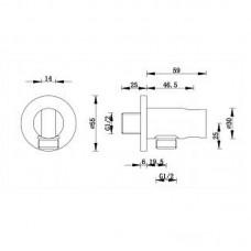 Sieninis dušo išvadas RONDO su laikikliu chromuotas