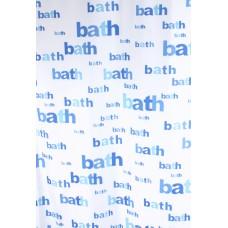 Užuolaidos tekstilinės voniai BATH mėlyna 180x200cm