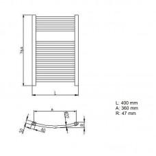 Rankšluosčių džiovintuvas-kopėtėlės Neriet RONDO 400x764 mm