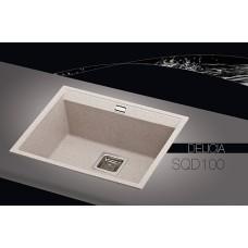Akmens masės plautuvė DELICIA-SQD100AW (55,5x45,5 cm)