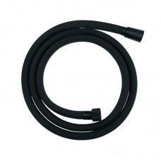 Dušo žarna 150 cm juodos spalvos silikoninė