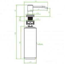 Skysto muilo dozatorius įmontuojamas, nerūdijantis plienas
