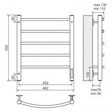 Elektrinis rankšluosčių džiovintuvas-kopėtėlės TERMINUS Classic (482 x 550 mm)