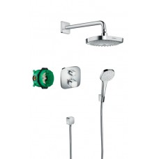 Potinkinė dušo sistema Hansgrohe Croma Select E / Ecostat E