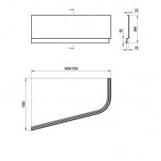 Akrilinė vonia Ravak Chrome asimetrinė (170x105 cm)