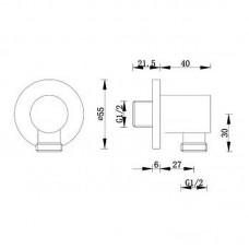 Sieninis dušo išvadas RONDO chromuotas