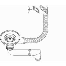 Ventilis nerūdijančio plieno plautuvei 3 1/2 (AQF-001V)