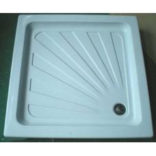 Dušo kabinos keturkampis akrilinis padėklas (100x100 cm) žemas