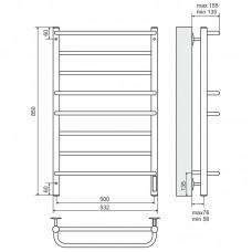 Elektrinis rankšluosčių džiovintuvas-kopėtėlės TERMINUS Euromix (850 x 532 mm)