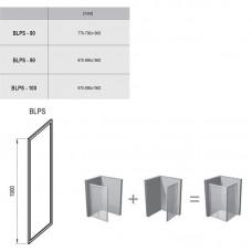 Stacionari sienelė Ravak Blix BLPS su skaidriais stiklais (100 cm pločio)