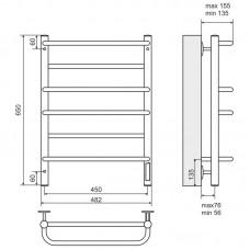 Elektrinis rankšluosčių džiovintuvas-kopėtėlės TERMINUS Euromix (650 x 482 mm)