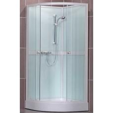 Pusapvalė dušo kabina SaniPro Simple/800 (80x80 cm)