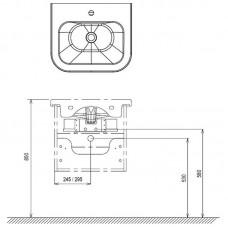 Praustuvo spintelė Ravak SD Chrome II 550/650